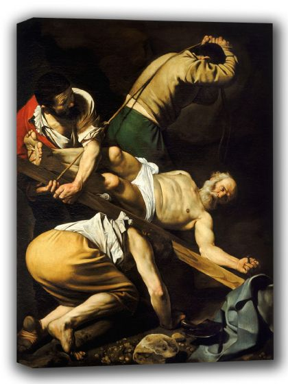 Caravaggio, Michelangelo Merisi da: The Crucifixion of Saint Peter. Religious/Biblical Fine Art Canvas. Sizes: A4/A3/A2/A1 (002081)